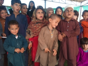 Children at Pehli Kiran School, Islamabad, for children at slums that do not have access to schools otherwise.